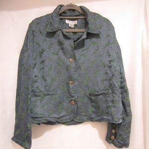 """Citron M Dragon Fly Button Up Jacket 40"""" Bust"""
